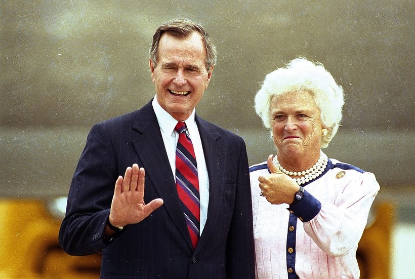 George H. W. Bush i Barbara Bush - historia miłości