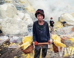 górnik z Indonezji