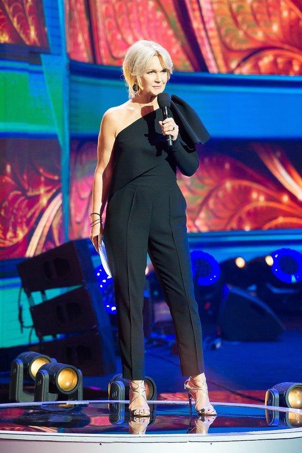 Grażyna Torbicka w trakcie festiwalu Top of the top w Sopocie
