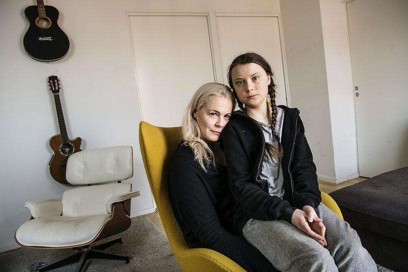 Greta Thunberg, Malena Ernman, Sztokholm, 2018-04-17
