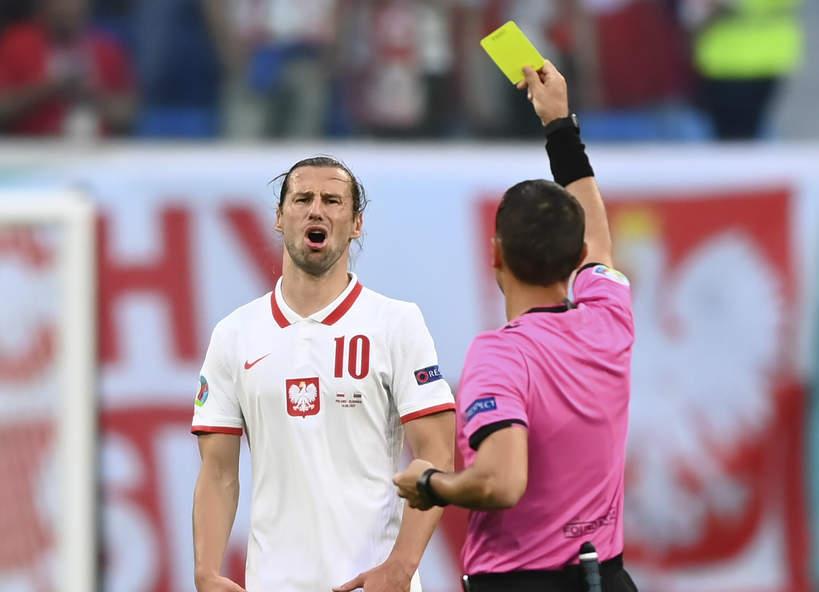 Grzegorz Krychowiak, Euro 2020, żółta kartka, 14.06.2021 r.