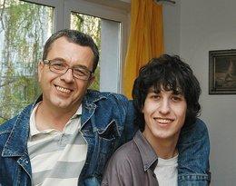 Grzegorz Miecugow z synem Krzysztofem, kwiecień 2005