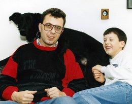 Grzegorz Miecugow z synem Krzysztofem, lata 80.