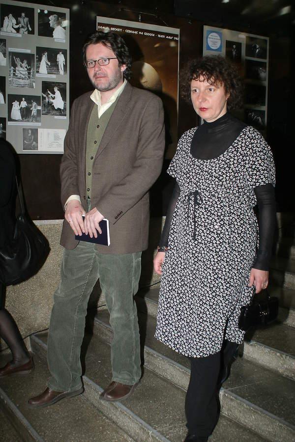 Grzegorz Turnau z żoną, Maryna Barfuss, Kraków, 16.04.2004 rok