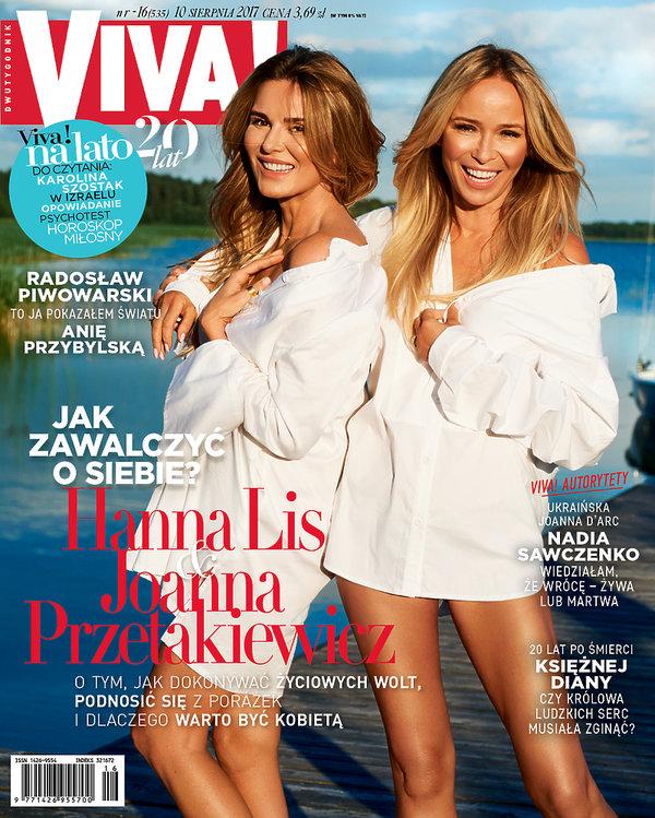 Hanna Lis, Joanna Przetakiewicz, VIVA! sierpień 2017