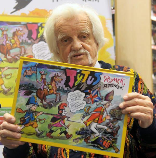 Henryk Jerzy Chmielewski, Papcio Chmiel z komiksem Tytus, Romek i A'Tomek, 18.10.2014 r.