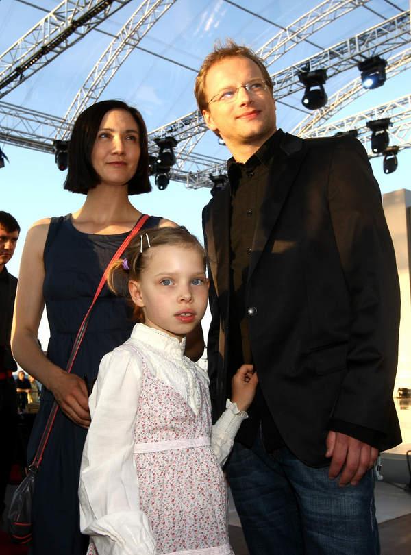 Ilona Ostrowska, Maciej Stuhr, Matylda Stuhr, Sopot, 02.06.2008 rok