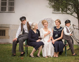 Irena Kamińska-Radomska z rodziną: mamą, córką i dwoma wnukami