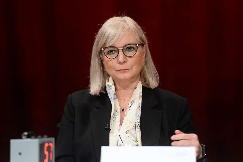 Iwona Schymalla, spotkanie prasowe Polki kontra rak piersi, 20.09.2021, Warszawa