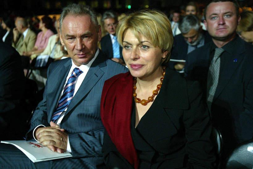 Izabela Jaruga-Nowacka, mąż Jerzy Nowacki, Warszawa, 29.08.2005 rok