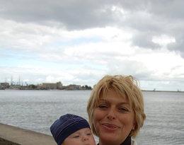 Izabela Jaruga-Nowacka z wnukiem