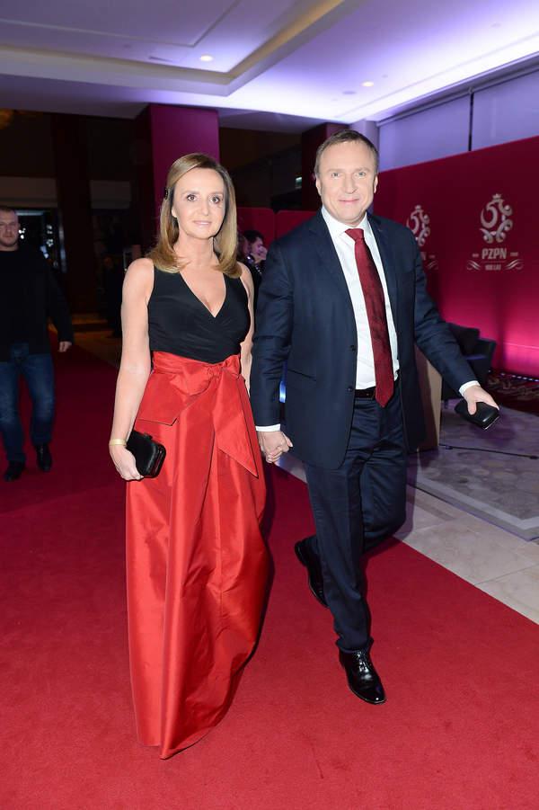 Jacek Kurski, Joanna Kurska, Joanna Klimek, Warszawa, 06.12.2019, gala 100-lecia PZPN