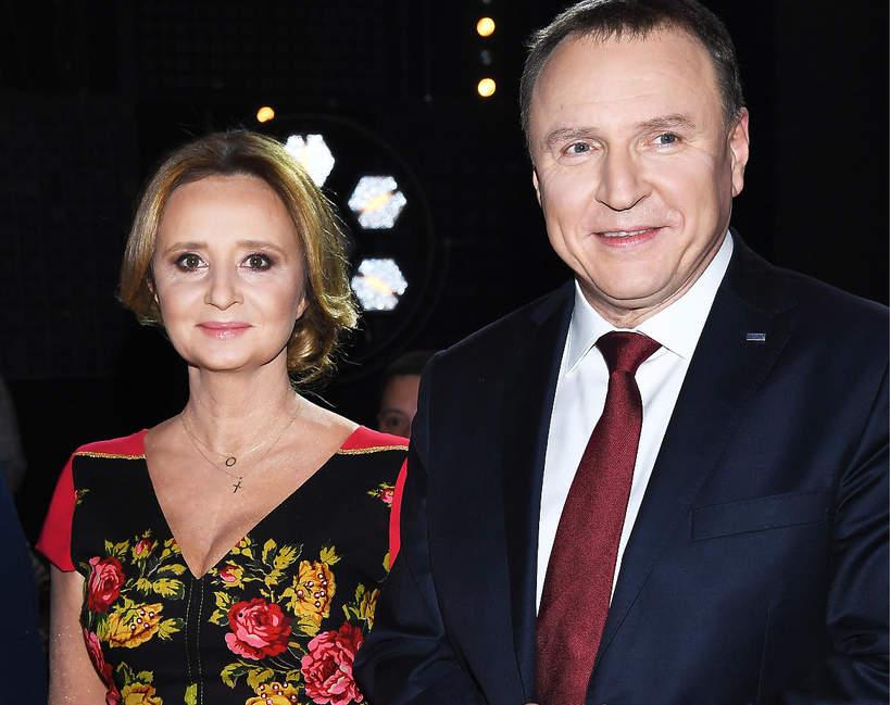 Jacek Kurski, Joanna Kurska, Joanna Klimek, Warszawa, 12.12.2018, Konferencja Sylwester Marzeń z Dwójką