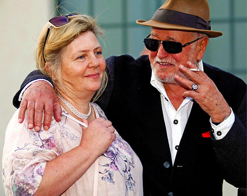 Jan Nowicki z żoną Anną Kondratowicz na Festiwalu Reżyserii Filmowej w Wałbrzychu