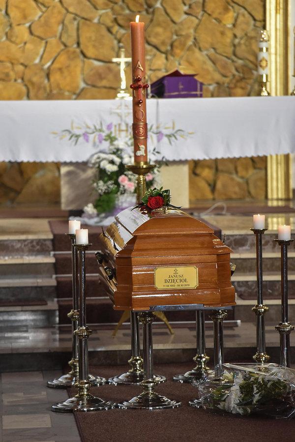 Janusz Dzięcioł, pogrzeb, Olsztyn