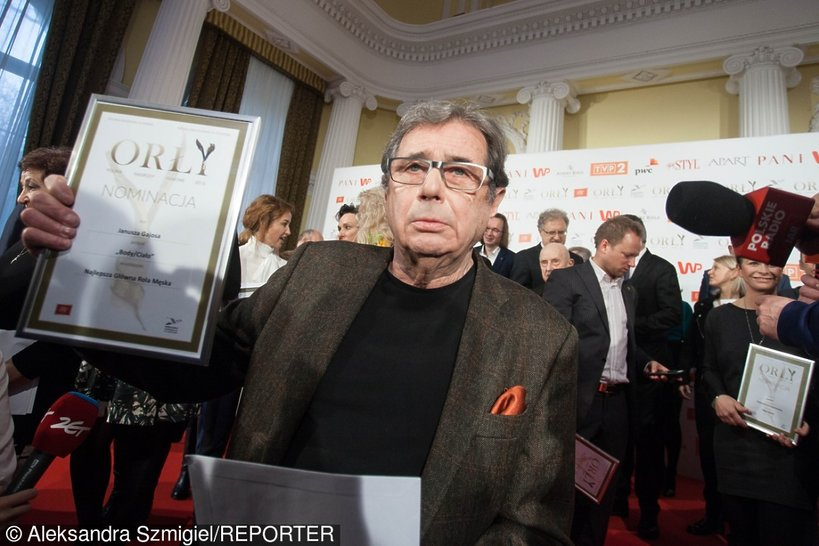 Janusz Gajos odebrał Orła za Osiągnięcia Życia, Orły 2016 na konferencji prasowej