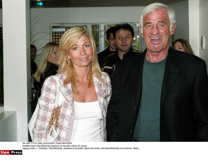 Jean-Paul Belmondo z żoną Natty, 2004
