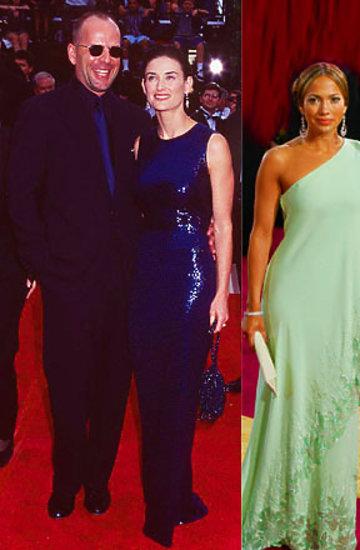 Jennifer Aniston, Tom Cruise, Jennifer Lopez, Nicole Kidman, Demi Moore, Aston Kutcher