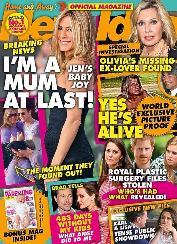 Jennifer Aniston w New Idea. Aktorka Przyjaciół jest w ciąży?