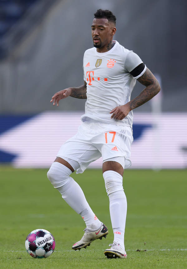 Jerome Boateng, mecz Bayernu Monachium, Frankfurt, 20.02.2021 rok