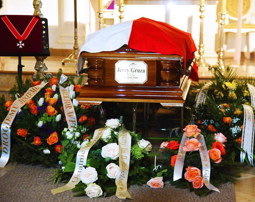 Jerzy Gruza, pogrzeb Jerzego Gruzy