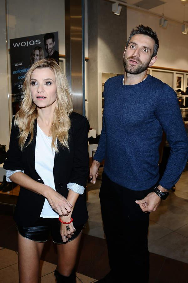 Joanna Koroniewska, Maciej Dowbor, salon Wojas, Warszawa, 17.10.2014 rok