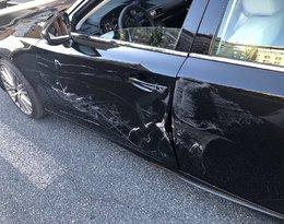Joanna Krupa miała wypadek z centrum Warszawy. Jej Lexus nadaje siędo kasacji