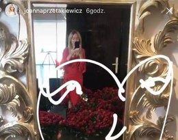 Joanna Przetakiewicz otrzymała od Rinke Rooyensa 1001 róż z okazji pierwszej rocznicy związku