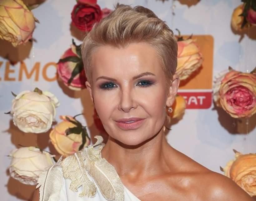 Joanna Racewicz, wieczór z gwiazdami telewizji Polsat, Warszawa, 26.02.2019