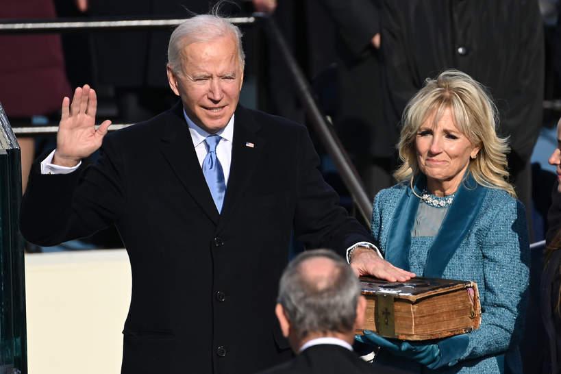 Joe Biden, Jill Biden, Waszyngton, zaprzysiężenie prezydenta USA, 20.01.2021 rok