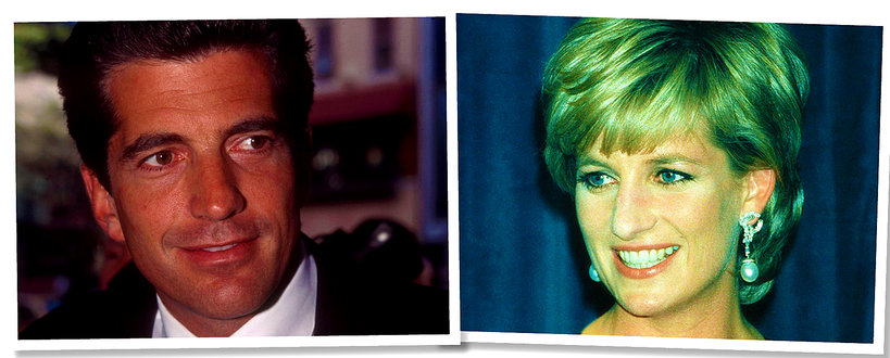 John Fitzgerald Kennedy Junior i księżna Diana
