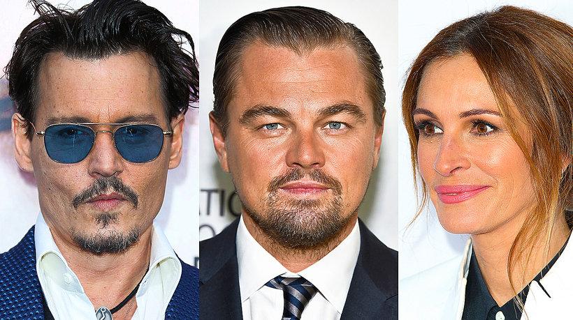 Johnny Depp, Leonardo DiCaprio, Julia Roberts, George Clooney