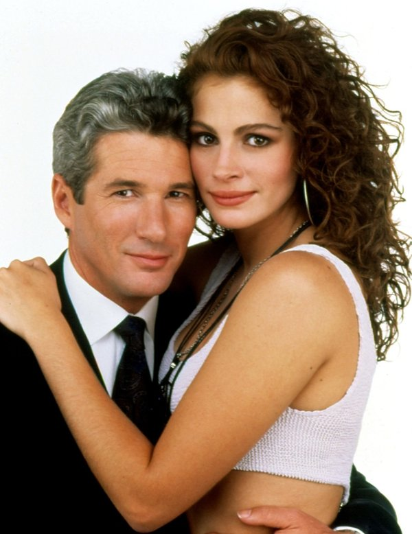 "Julia Roberts i Richard Gere w filmie ""Pretty Woman"", 1990 rok"