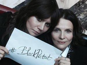 Juliette Binoche i Małgośka Szumowska wspierają Czarny Protest