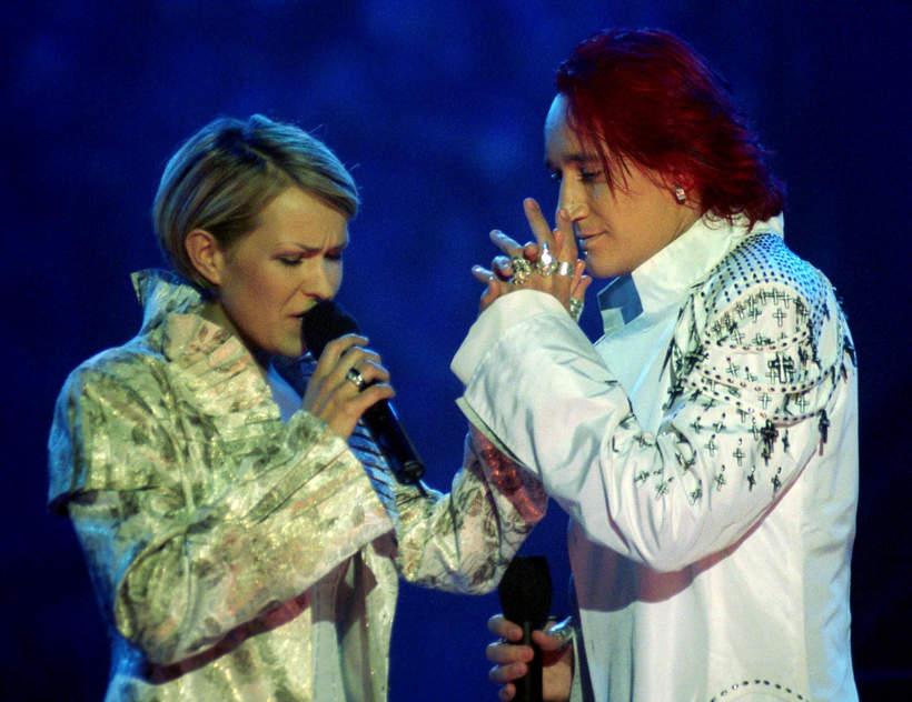 Justyna Majkowska, Michał Wiśniewski, Ich Troje, eliminacje do Eurowizji, 25.01.2003, Warszawa