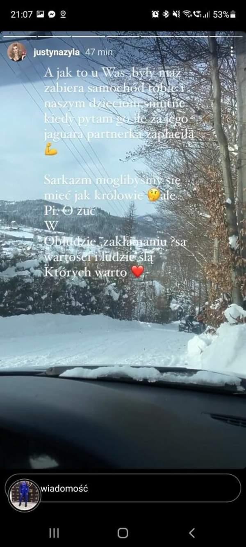 Justyna Żyła na Instagramie. Uderza w Piotra Żyłę