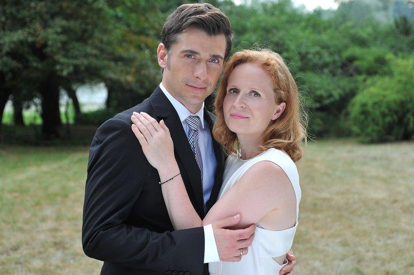 Kacper Kuszewski i Dominika Kluźniak na planie M jak miłość