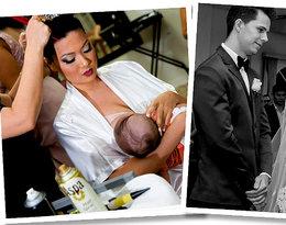 Panna młoda karmi dziecko piersią przed ołtarzem?! Te zdjęcia podbiły Internet!