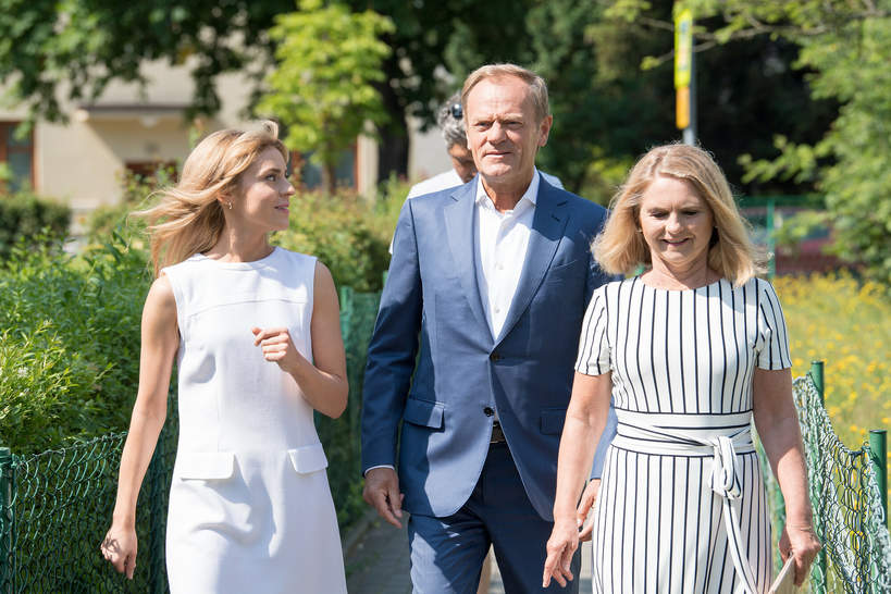 Katarzyna Tusk-Cudna, Donald Tusk, Małgorzata Tusk, Sopot, 28.06.2020 rok