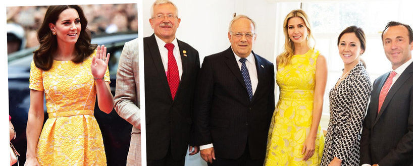 Kate Middleton, Ivanka Trump, podobne sukienki
