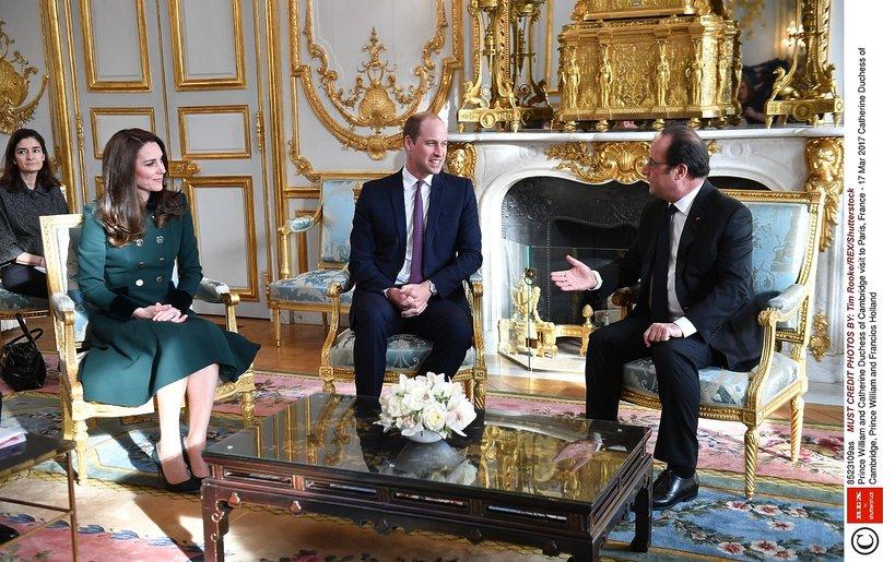 Kate, William, księżna Kate, Kate Middleton, Francois Hollande, Kate i William we Francji