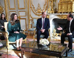 Kate, William, księżna Kate, Kate Middleton, Francois Hollande, Kate i William we Francji
