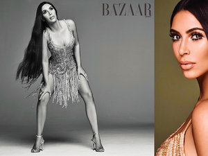 Kim Kardashian jako Cher na okładce harper's Bazaar Arabia