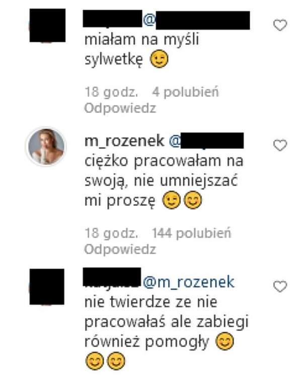 Komentarze na profilu Małgorzaty Rozenek-Majdan