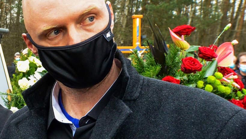 Krzysztof Igor Krawczyk, syn Krzysztofa Krawczyka na pogrzebie ojca, 10.04.2021 rok