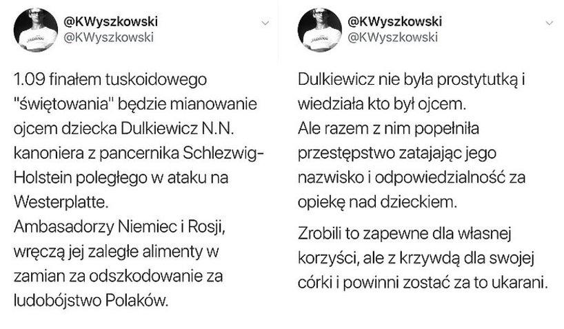 Krzysztof Wyszkowski Twitter, Aleksandra Dulkiewicz