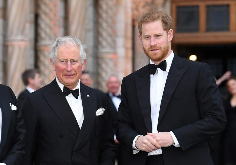 Książę Harry, książę Karol, Londyn, 04.04.2019 rok