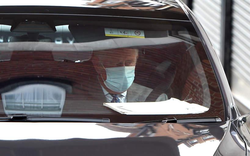 Książę Karol opuszcza szpital królowa Edwarda VII w Londynie, w którym przebywa książę Filip, 20.02.2021 rok