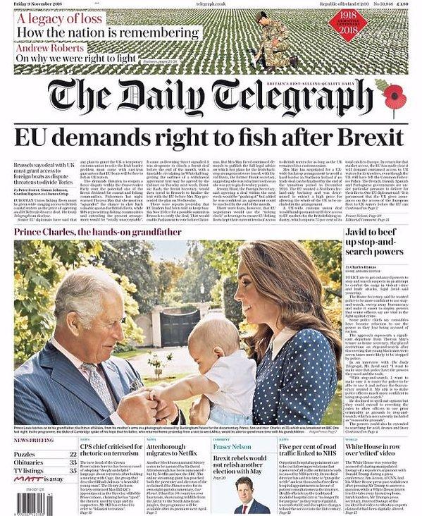 Książę Karol z księciem Louisem i księżną Kate w The Telegraph