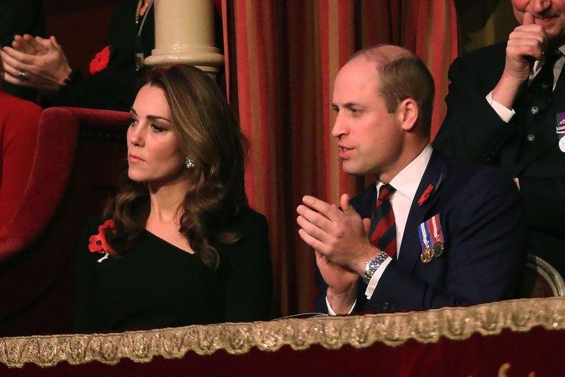 Książę William i księżna Kate na Royal British Legion Festival of Remembrance w Royal Albert Hall w Londynie